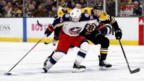 Matt Duchene had the game-winning double overtime goal in Game 2 against the Boston Bruins