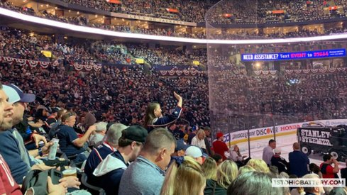 The Columbus Blue Jackets saw a record crowd for Game 4