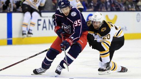 Matt Duchene failed to register a shot in Game 4 against the Boston Bruins.