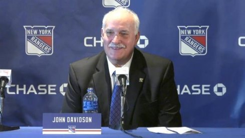John Davidson served as the president of hockey operations for the Columbus Blue Jackets from 2012-2019.