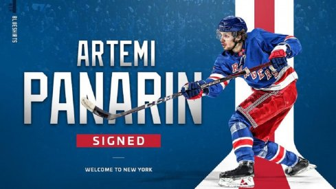 Panarin signs with the Rangers