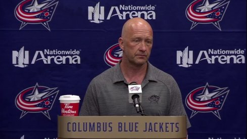 Columbus Blue Jackets GM Jarmo Kekalainen addresses the media following the start of free agency.