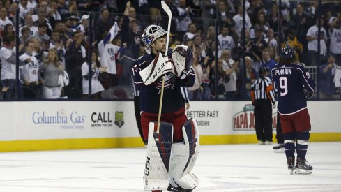 Sergei Bobrovsky had seven seasons with the Columbus Blue Jackets - averaging a .921 SV% and a 2.41 GAA.