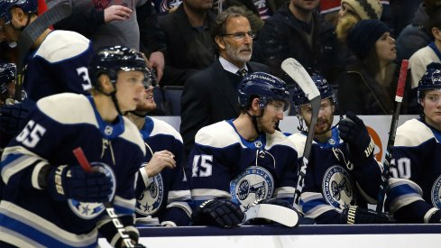 Columbus Blue Jackets head coach John Tortorella watches play from the bench during the third period against the Nashville Predators at Nationwide Arena