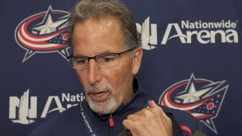 John Tortorella speaks to the assembled media about the most recent cuts.