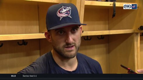 Columbus Blue Jackets captain Nick Foligno discusses the team's opening night loss to the Toronto Maple Leafs.