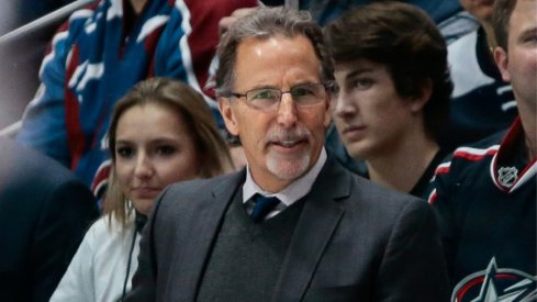 Columbus Blue Jackets head coach John Tortorella watches his team during a regular-season matchup against the Colorado Avalanche at the Pepsi Center in January of 2018.