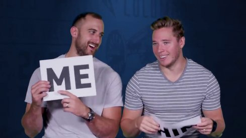 Nick Foligno and Cam Atkinson play a game to decide who has the better taste between the two.