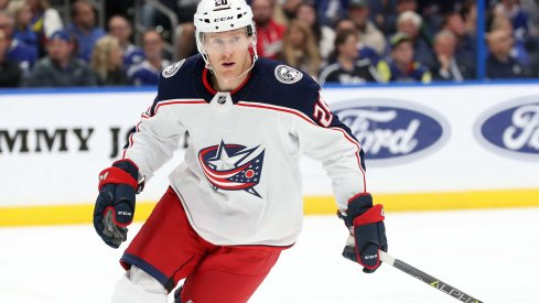 Riley Nash has four points in nine games this season with the Columbus Blue Jackets.