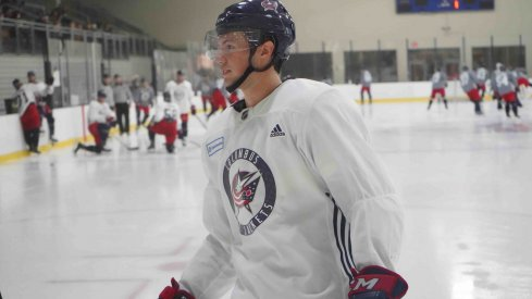 Andrew Peeke has a +3 rating through three games with the Columbus Blue Jackets this season.