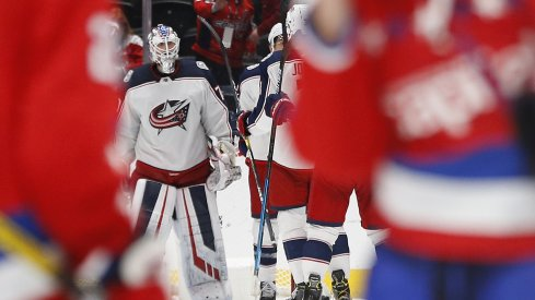 Joonas Korpisalo is averaging a .903	SV% and 2.81 GAA this season for the Columbus Blue Jackets.