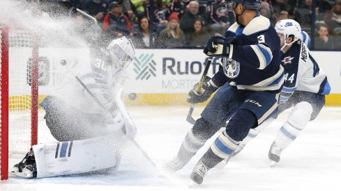 Seth Jones scores his fifth goal of the season in a 4-3 win over the Winnipeg Jets