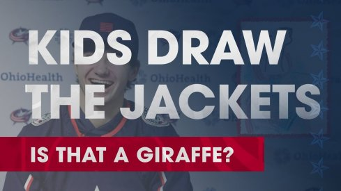 Alexandre Texier is drawn by little kids and not everyone on the Blue Jackets is able to guess correctly.