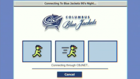 The Blue Jackets had 90's night and they had an amazing video attached with it.