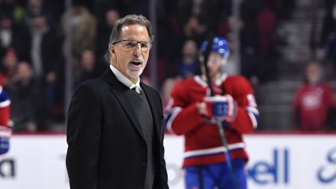 Columbus Blue Jackets head coach John Tortorella leaves the ice after the defeat against the Montreal Canadiens at the Bell Centre.