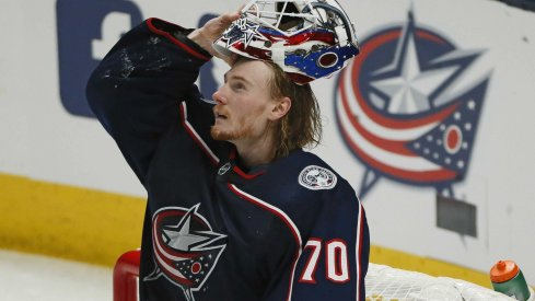 Joonas Korpisalo recorded the first shutout in Columbus Blue Jackets postseason history in Game 1 against the Toronto Maple Leafs.