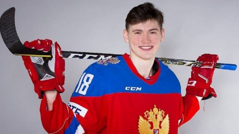 Kirill Marchenko poses for a photo for Team Russia
