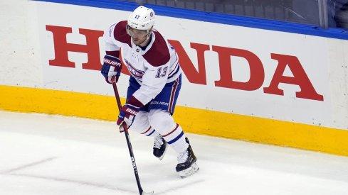 Max Domi plays against the Philadelphia Flyers