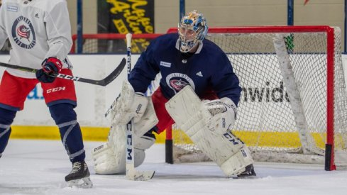 Daniil Tarasov skates at Blue Jackets development camp