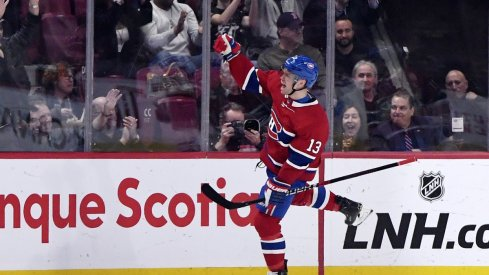 Max Domi scores against the New York Rangers