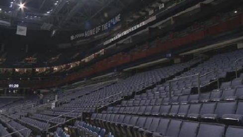 Empty Stands at Nationwide Arena