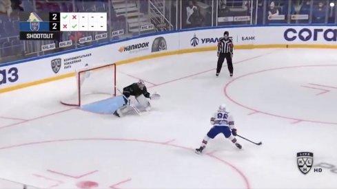 Kirill Marchenko takes the shootout attempt vs Daniil Tarasov