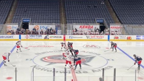 The Columbus Blue Jackets Split Their Roster For A Wednesday Night Scrimmage