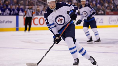 Winnipeg Jets forward Patrik Laine (29) skates against the Toronto Maple Leafs at Scotiabank Arena. Winnipeg defeated Toronto in an overtime shoot-out.