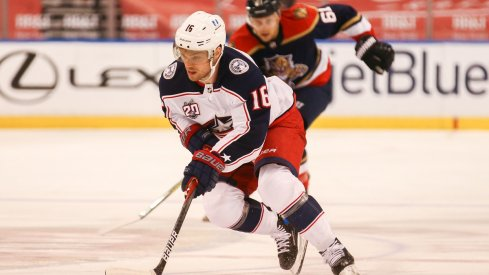 Max Domi plays against the Florida Panthers