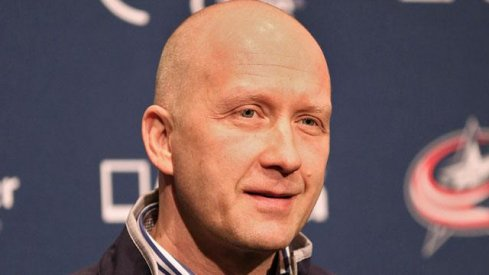 Jarmo Kekalainen talks to the assembled media after being hired.