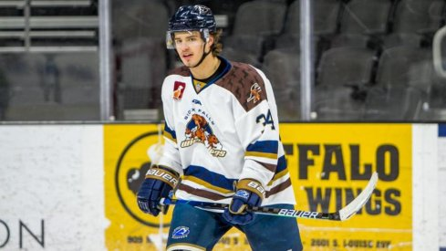 The Columbus Blue Jackets chose Cole Sillinger with the 12th overall draft pick.