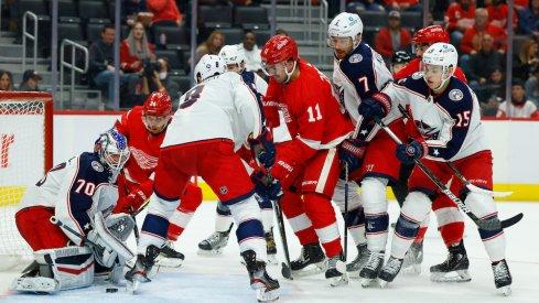 Jonas Korpisalo vs Detroit Red Wings