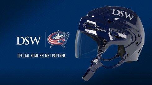 Helmet with DSW logo on it.