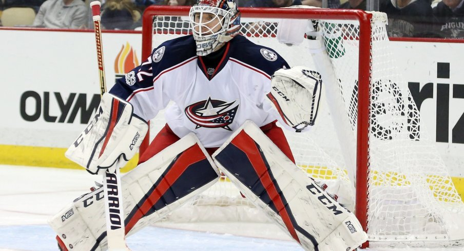 Sergei Bobrovsky gave up four goals in the Blue Jackets net.