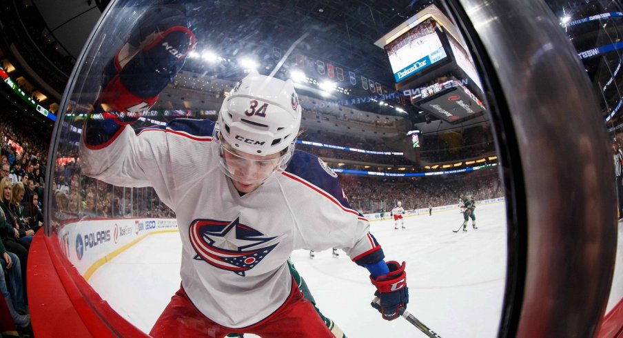 Josh Anderson arrived for the CBJ in 2017.
