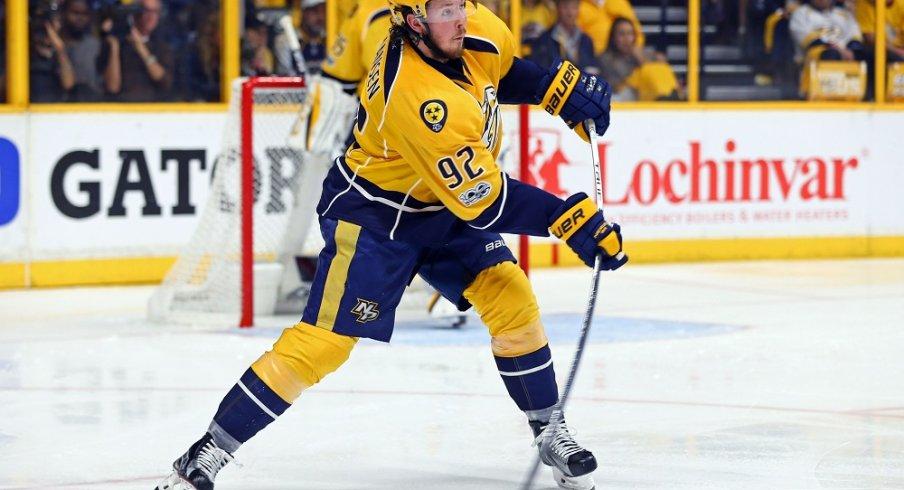 Ryan Johansen has flourished in Nashville but is now injured.