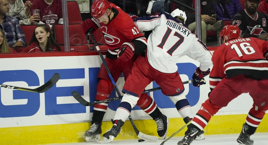 The Blue Jackets and Hurricanes played hockey.
