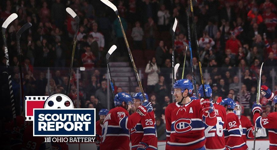The Montreal Canadiens salute the crowd after a recent win.