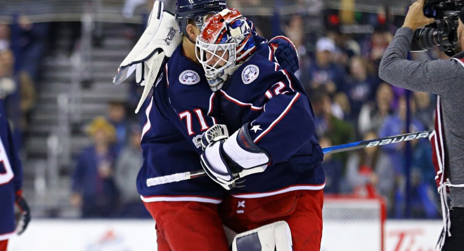 We're thankful for Foligno/Bobrovsky hugs, obviously.