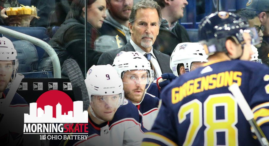 Blue Jackets head coach John Tortorella watches his team's game intently