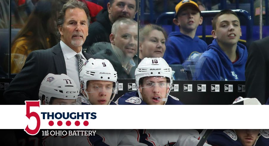 Blue Jackets head coach John Tortorella looks on during the team's 3-1 loss in Buffalo.