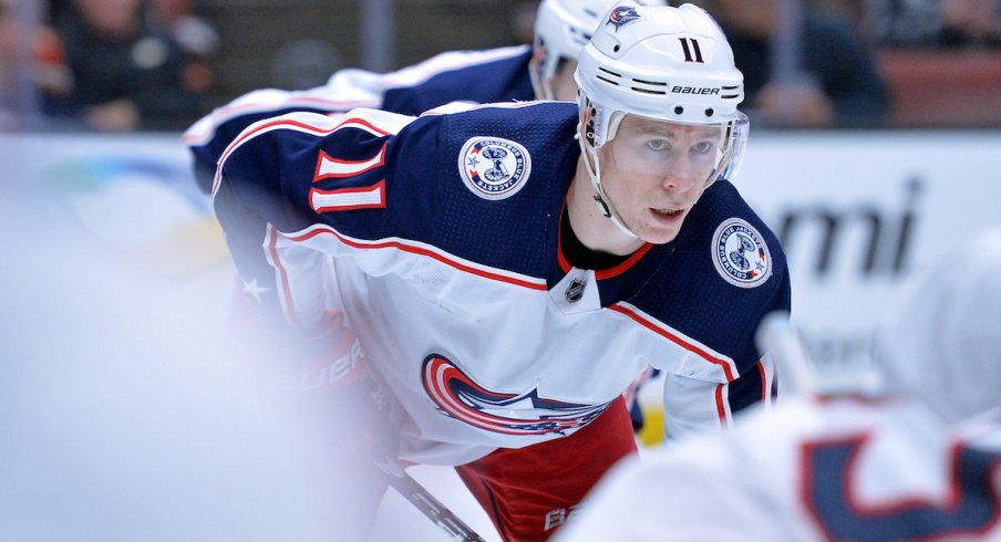 Blue Jackets forward Matt Calvert