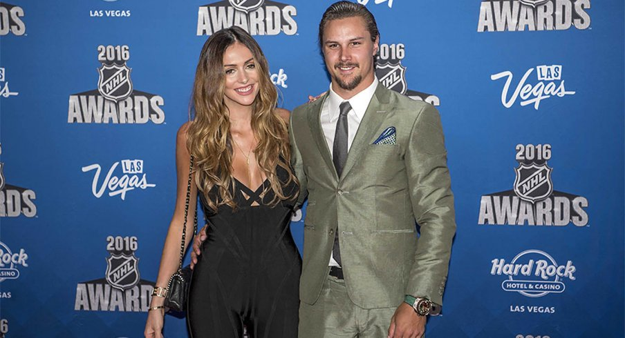 Erik Karlsson And His Wife Melinda At The  Nhl Awards