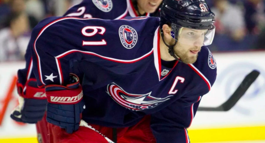 Former Columbus Blue Jackets captain Rick Nash, rumored to be interested in returning to the club that drafted him.