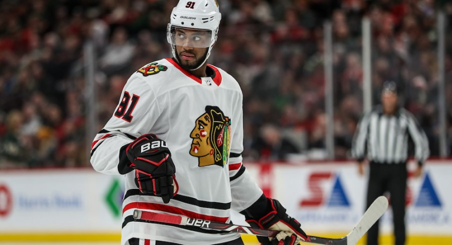 Anthony Duclair of the Chicago Blackhawks signed a one-year deal with the Blue Jackets on Thursday.