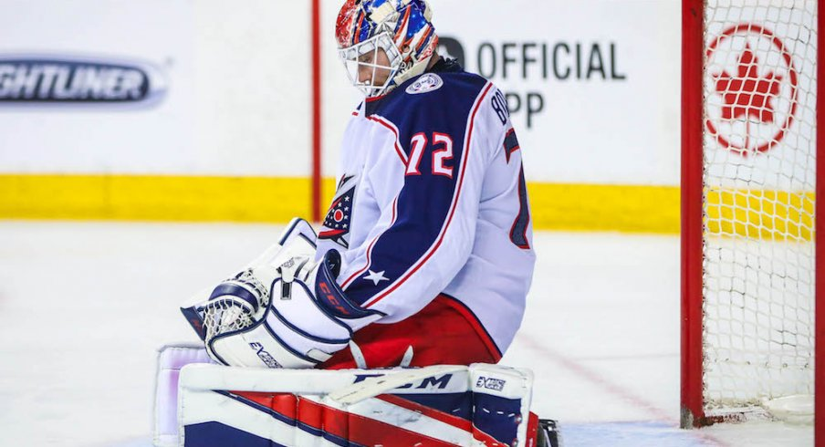 Columbus Blue Jackets goaltender Sergei Bobrovsky, who may be moving on from the team after 2018-19.