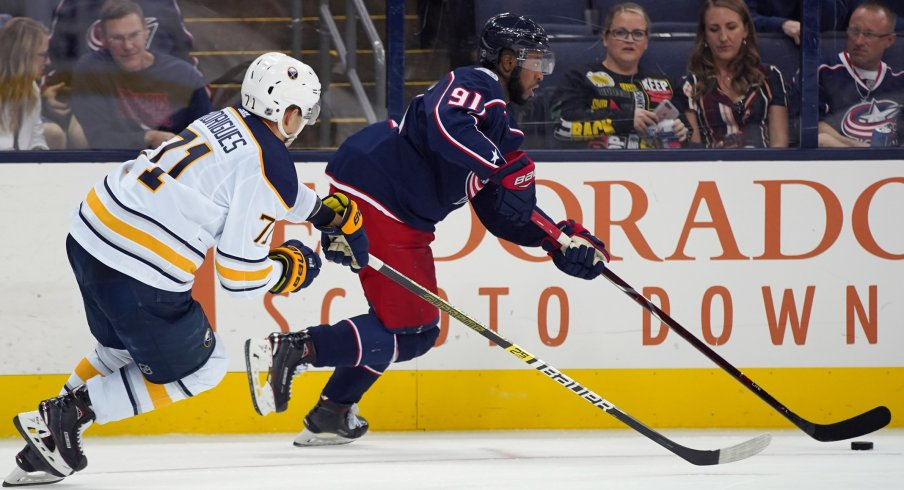 Anthony Duclair in pre-season action against the Buffalo Sabres