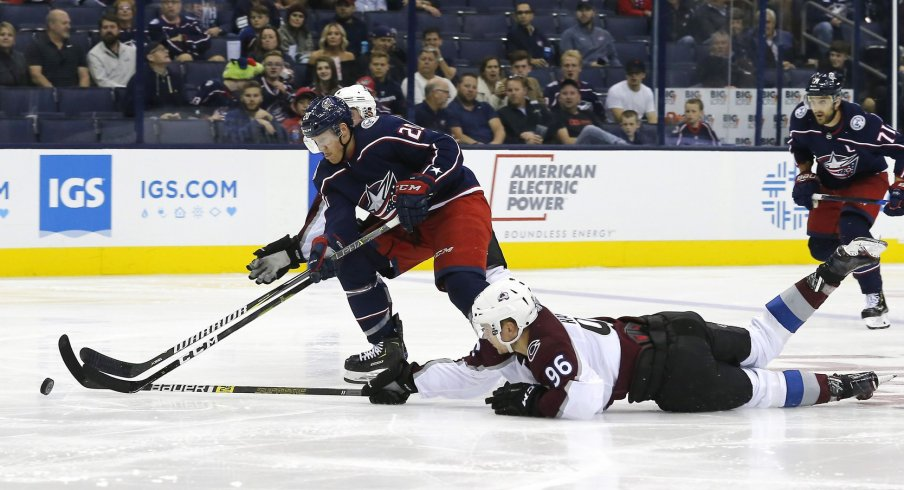 Columbus Blue Jackets center Riley Nash's slow start not a concern just yet.