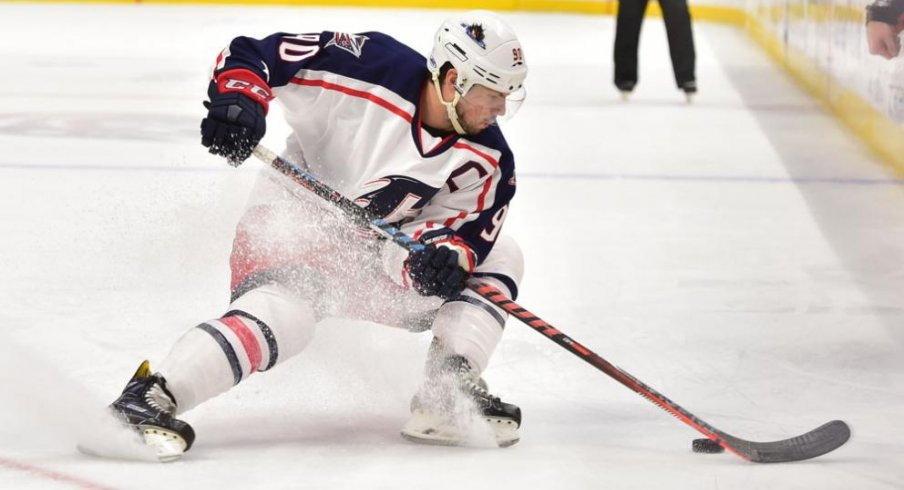 Nathan Gerbe the Captain of the Cleveland Monsters has had a strong start to his season