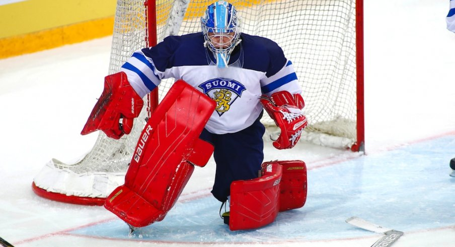 Veini Vehvilainen playing for Finland's National team